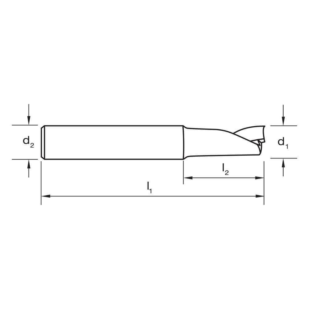 Carbide VHM Ultra Sutton E444 Metric 1 Flute Endmill Short