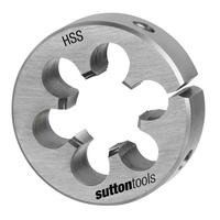"Sutton M552 M12 x 1.75mm - 2"" OD Metric Button Die - HSS - Pro Series - AIMS Industrial Supplies"