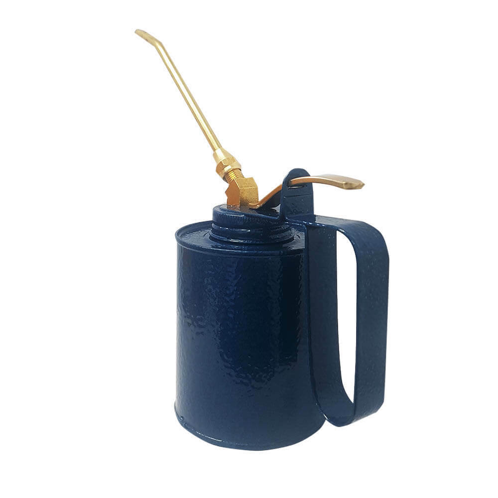 Cesco 600ml Brass Oil Can with Fixed Spout