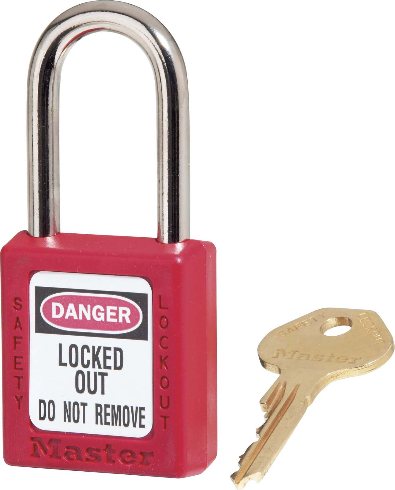 Master Lock 410 Safety Lockout Padlock / Isolation Lock - Red - AIMS Industrial Supplies