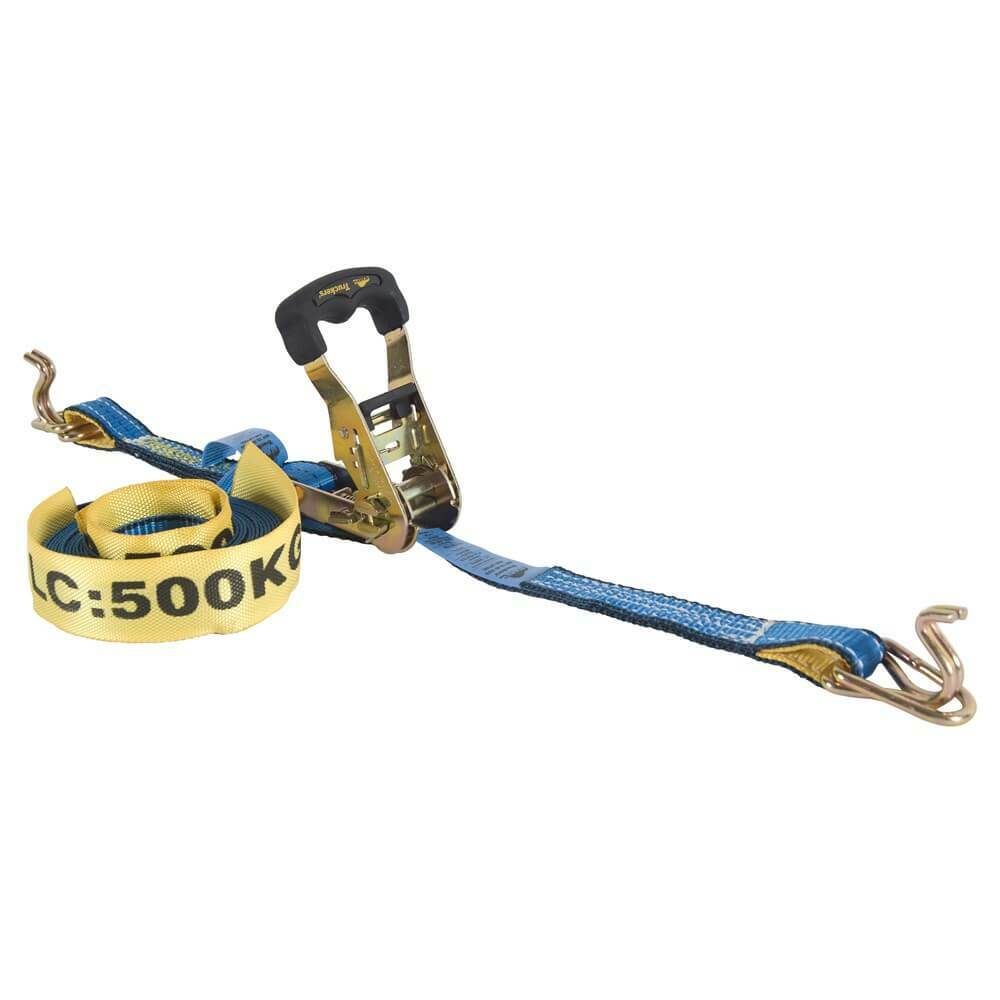 "Beaver Ratchet Tie Down- 25mm (1"") x 5m (16') x 500kg LC - AIMS Industrial Supplies"