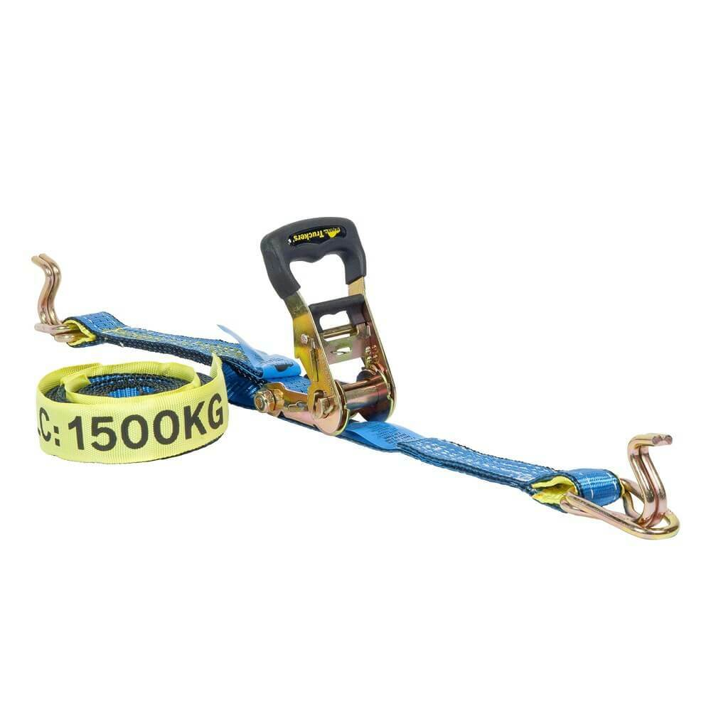"Beaver Ratchet Tie Down- 35mm(1-3/8"") x 6m(20') x 1500kg (1.5Tonne) LC - AIMS Industrial Supplies"