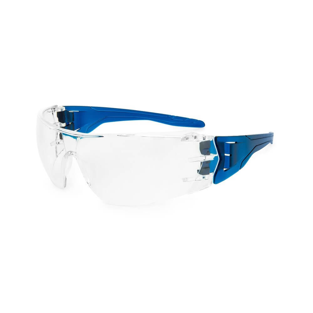 Frontier VX3 Panoramic Vision Safety Spectacles, Clear/Blue - Pack of 12