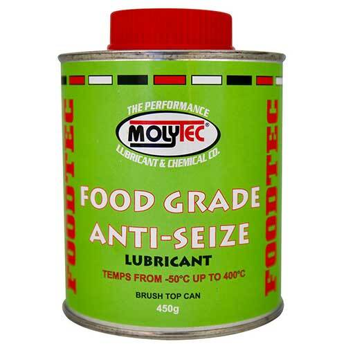Molytec M953 Food Grade Anti-Seize Lubricant Brush Top Tin- 450g