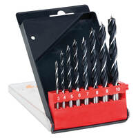 Frost Brad Point Drill Set 8 piece 3mm - 10mm Tungsten Chrome Alloy