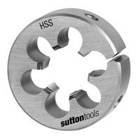 "Sutton M566 8UN 1/4"" x 8 TPI - 2-1/2"" OD Button Die - HSS - Pro Series"