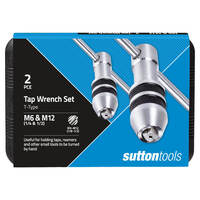 Sutton M901 M6 & M12 2 Piece T-Type Tap Wrench Set - Suits M3 to M12