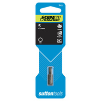 Sutton Screwdriver Bit Impact S116 5mm x 25 Hexagon CRV