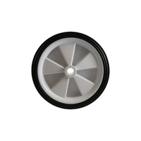 160mm Plastic Wheel with Rubber Tyre