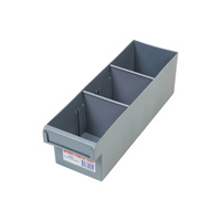 Fischer Spare Parts Tray w/ 2 Dividers 100 x 100 x 300mm  - Box of 12