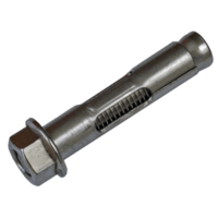 M12 x 100 316 Stainless Steel Hex Flange Nut Sleeve Anchor