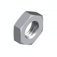 "1/4"" UNC 304 Stainless Steel Hex Lock Nut - Box of 100"