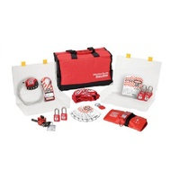 Master Lock 1458V410 Lockout Kit & Station - Valve Lockout