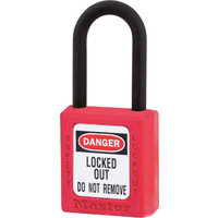 Master Lock 406 Safety Lockout Padlock / Isolation Lock - Red