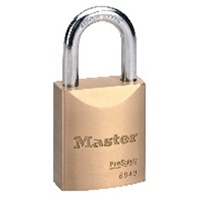 Master Lock 6840K Padlock Brass Body Width 44mm Shackle Height 30mm