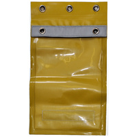 Master Lock Permit Holder Document Pouch - Lockable, Yellow, Fits A4