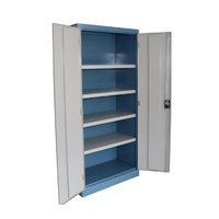 Ezylok Flat Top Factory Cupboard (4 Shelves, 2 Keys) - 822005