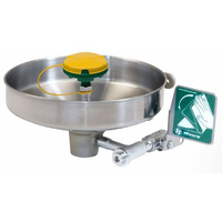 Wall Mounted Eye/Face Wash Station - Stainless Steel Bowl & Strainer