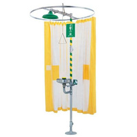 Modesty Shower Curtain c/w Mounting Frame - Tyvek Lining (AM-9037)