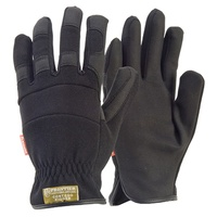 Contego Rigger Breathable Gloves, Black, Large - Pack of 12
