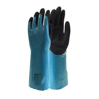 Frontier Chemitouch Chemical Resistant Glove, Green/Black, Large - Pair