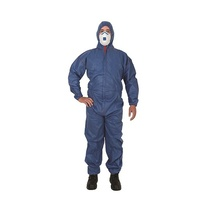 Frontier Type 5 And 6 Disposable Shield Coverall, Blue, Large - Pack of 50