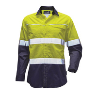 Mack Workwear Xenon Mens Ripstop Shirt, Yellow/Navy, Small