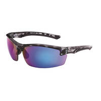 Mack Force Sport Design Safety Spectacles, Blue Revo Mirror/Black Camo - Pack of  12