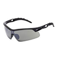 Mack Hazzard Sports Safety Spectacle, SmokeSilverMirror/Metallic Black - Pack of  12