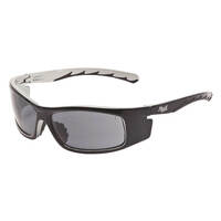 Mack Mackman Wraparound Style Safety Spectacles, Smoke/Black-Silver - Pack of  12