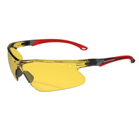 Mack Wave Ultra Light Safety Glasses, Amber/Red - Pack of 12