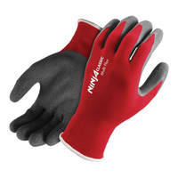 Ninja Classic Multi Flex Super Thin Grip Glove, Red/Black, Large - Pack of 12 Pairs