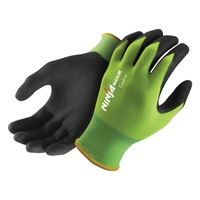 Ninja Maxim Cool HV Breathable Grip Glove, Yellow/Black, Large - Pack of 12 Pairs