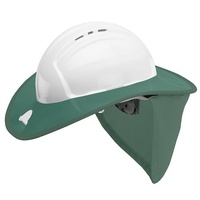 FRONTIER Snap Brim White/ Green for Sureguard Hard Hat, White/ Grey -Frontier