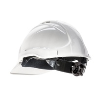Frontier Tuffgard Vented Hard Hat W/ Ratchet Harness White, One Size Fits All