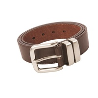 WS Workwear Mens Leather Belt Brown, Size 34