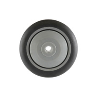 Non-Marking Rubber Wheel - Precision Bearing, Nylon Centre, Grey
