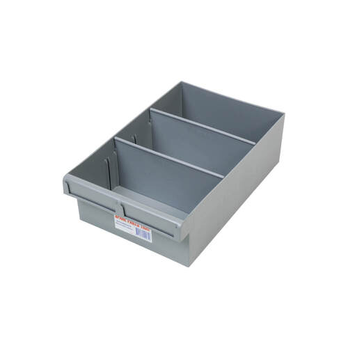 Fischer Spare Parts Tray With 2 Removeable D  200 x 100 x 300mm - Box of 6 - AIMS Industrial Supplies