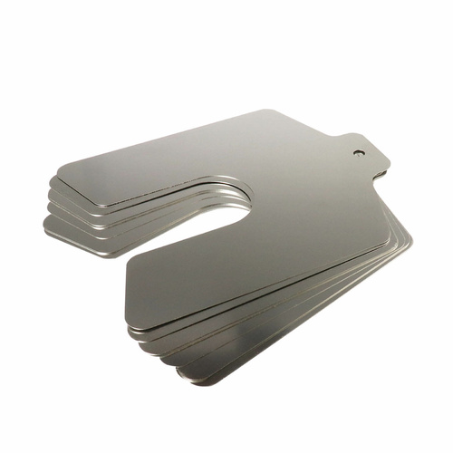 "Precision Brand Stainless Steel Slotted Shim 2"" x 2"" x 0.001"" 20pcs"