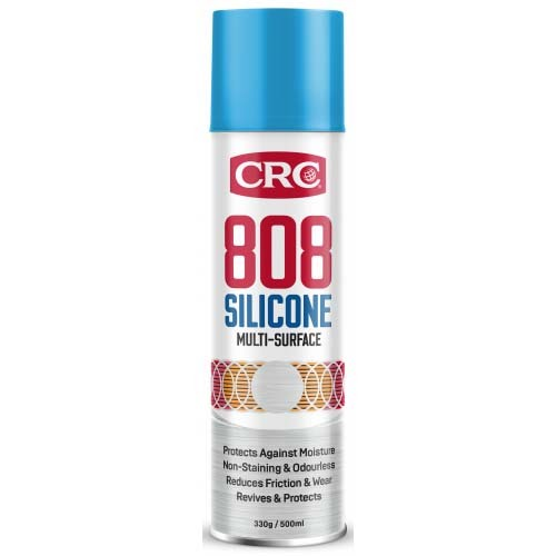 CRC Aerosol 808 Silicone Spray Multi-Purpose Enhancer, Lubricant & Protectant 330g