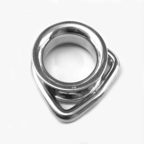 M8 316 Stainless Steel D Ring Thimble Box of 5