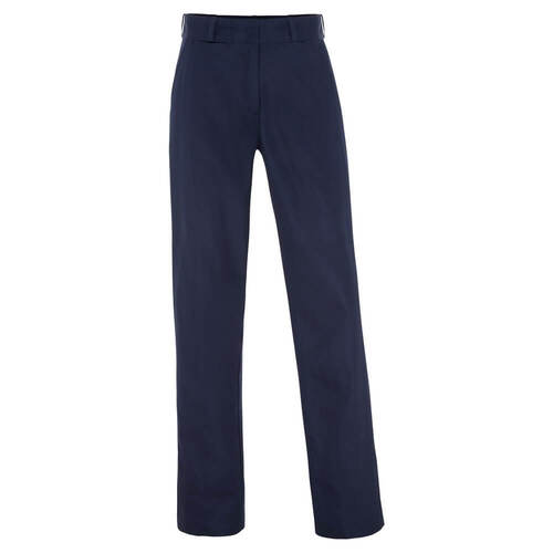 WS Workwear Womens Heavy Weight Cotton Drill Trouser, Navy, Size 6