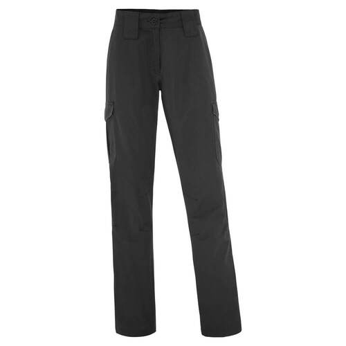 WS Workwear Womens Durable Canvas Cargo Trouser, Black, Size 8