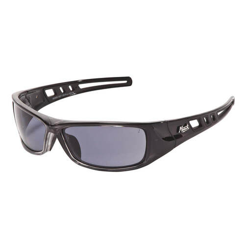 Mack B-Double Safety Spectacles, Smoke Polarised/Black Silver - Pack of  12